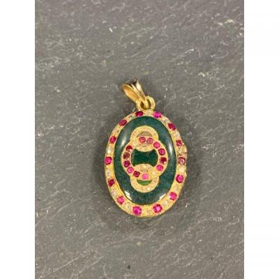 Opening Medallion, Gold, Jasper, Ruby And Diamonds