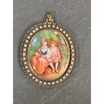 Country Scene Email Pendant