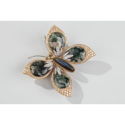 Butterfly Garland Brooch