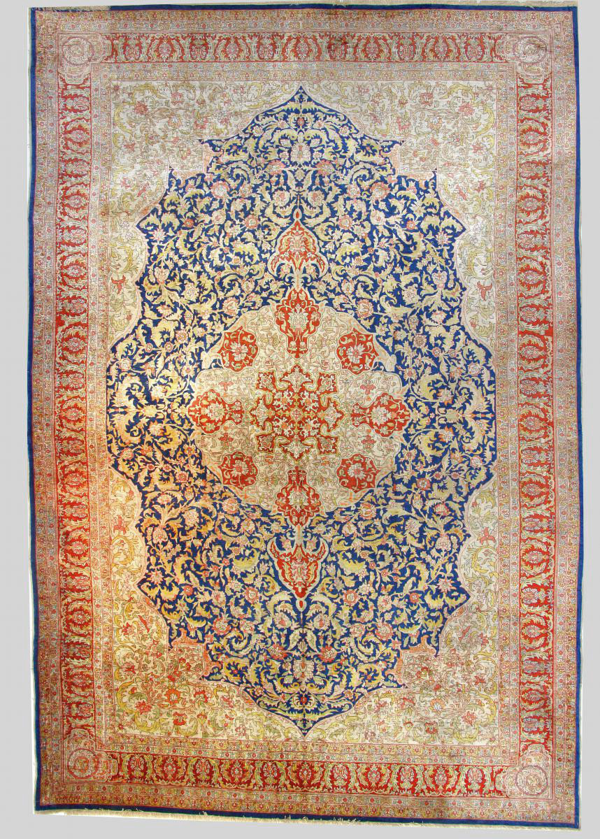 Hereke Silk Rug Large Dimension Around 1970 Turkey Signed Extra Fine Quality