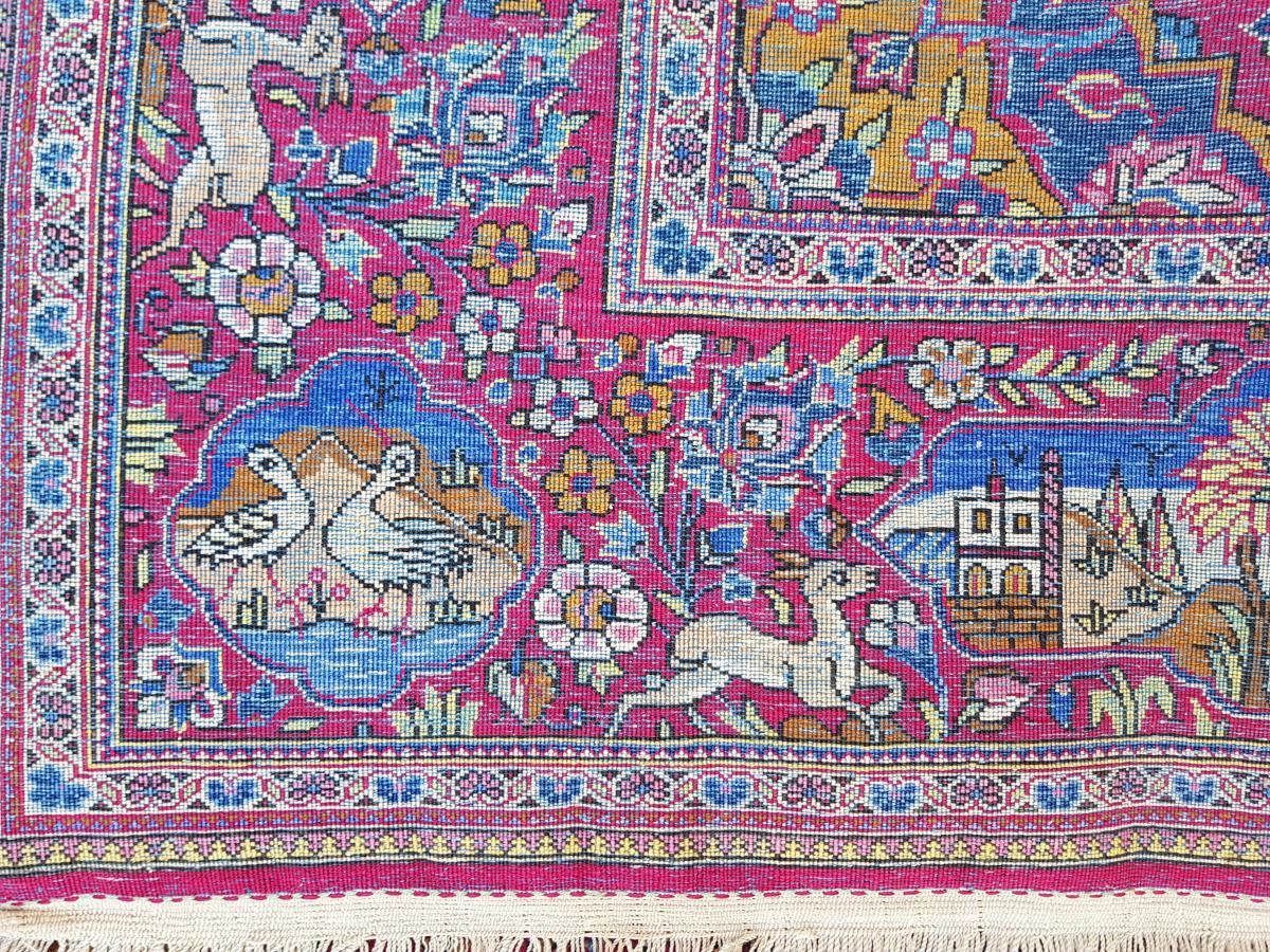 Tapis  Kashan Soie -  Iran Vers 1900 - 19ème siècle dynastie pahlavi -photo-6