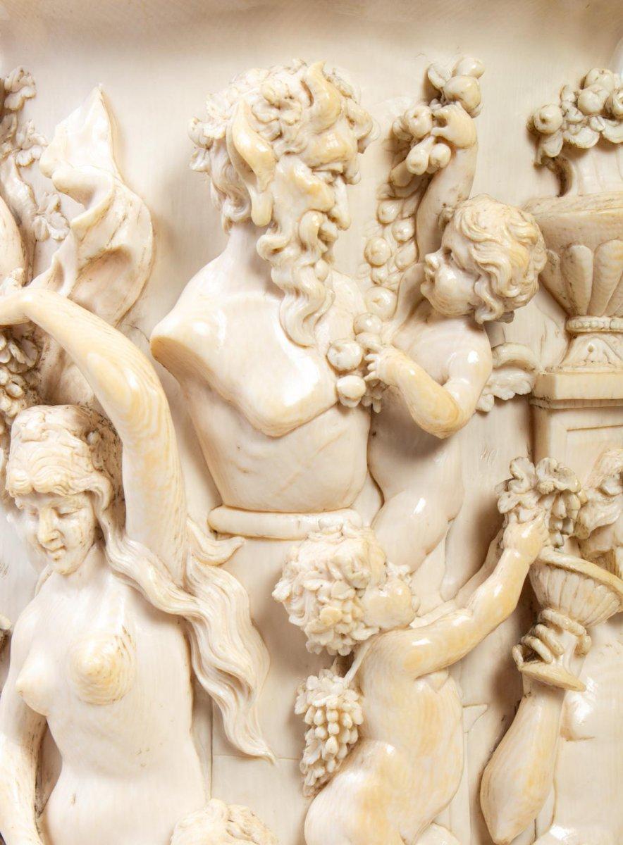 Chope en ivoire : Fête dionysiaque - Allemagne 19ème-photo-1