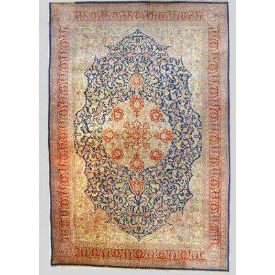 Hereke Silk Rug Large Dimension Around 1970 Turkey Signed Extra Fine Quality