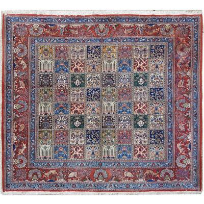 Ghoum Wool And Silk Kork Rug - Around 1950 Iran