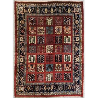 Nahavand Silk Kork Wool Rug - Iran Around 1960 Pahlavi (shah Era)