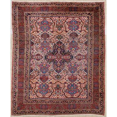 Large Kachan Manchester Wool Carpet Kork On Cotton Foundation - Iran 19th Circa 1880
