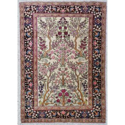 Teheran Rug End 19th Kork Wool Silky Extra Fine Quality