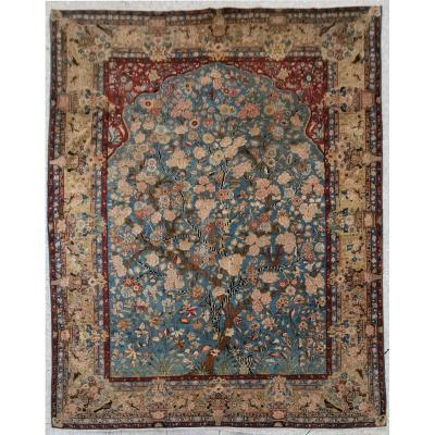 Kachan Dabir Carpet In Kork Wool - Iran Late 19th - Shah Period