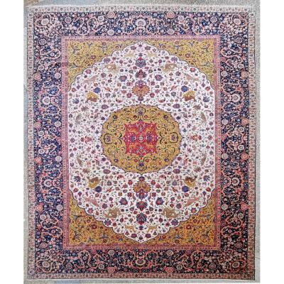 Important Carpet - Tabriz  In Kork Wool - Iran Circa 1880