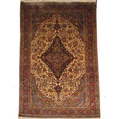 Ferahan Silk Carpet Around 1880 XIXth - Iran