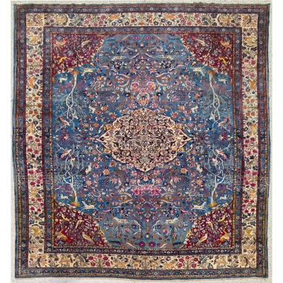 Fine Tehran In Kork Wool On Cotton Foundation - Iran Circa 1880