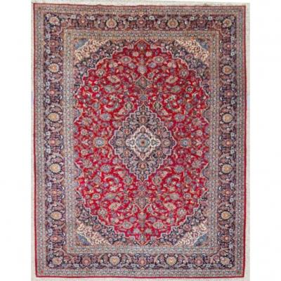 Kachan Carpet In Kork Wool - Iran Around 1950 20th Century