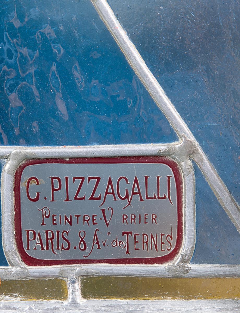 Vitrail de Carlo Pizzagalli, époque 1900-photo-4
