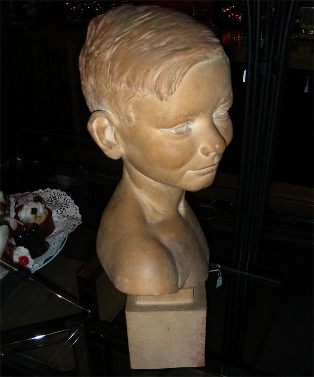 Buste De Jeune Garçon En Terre Cuite. François Cogné 1946