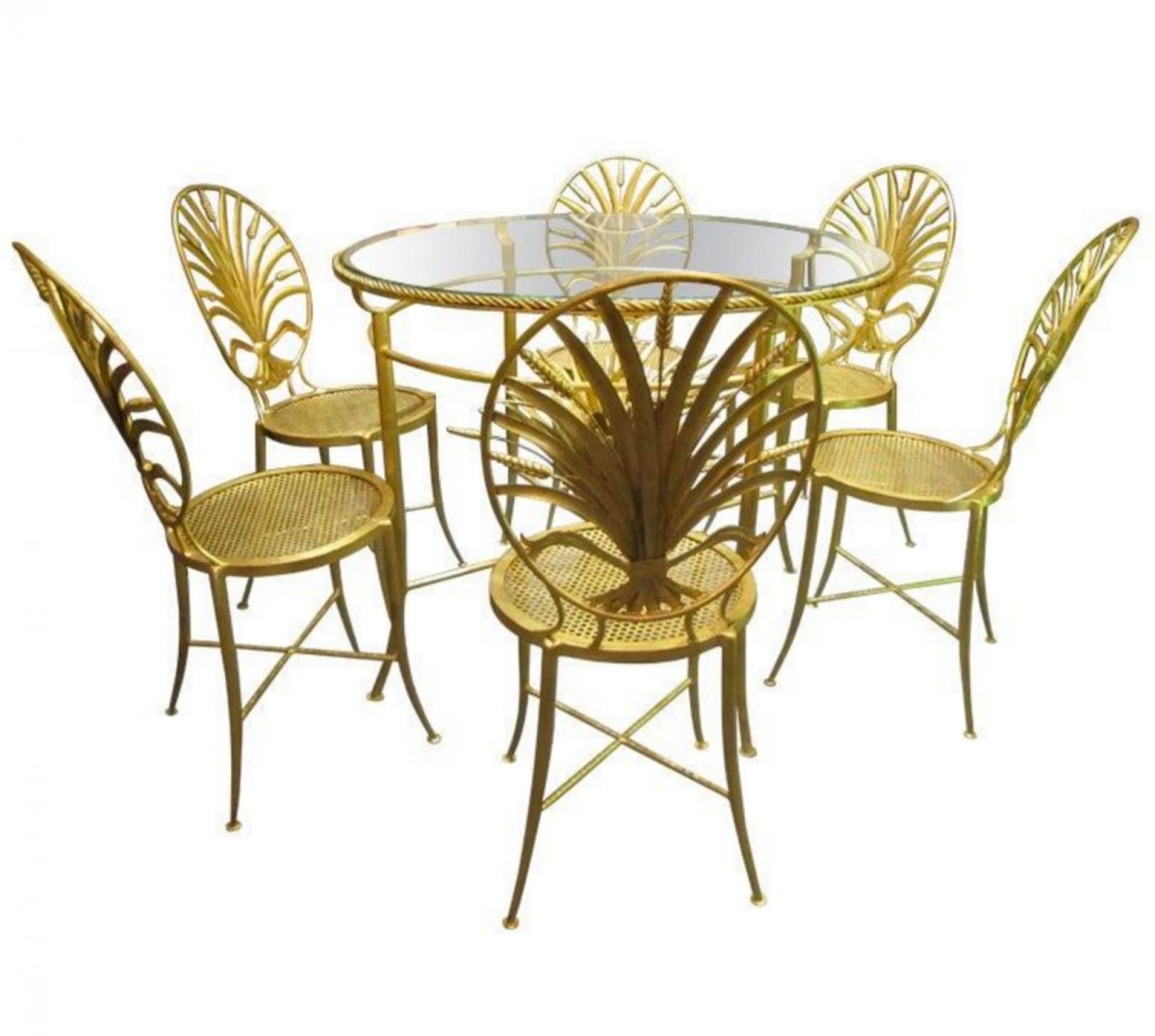 Set Of A Table And Six Chairs. S. Salvadori. Florence Italy Around 1960