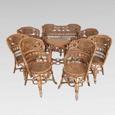 Rattan Winter Garden Set, Maison Perret-vibert. France Around 1880