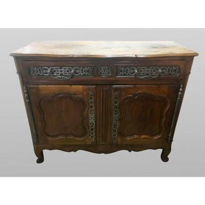 Buffet Louis XV Eighteenth Century In Walnut