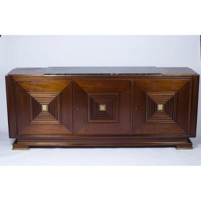 Large Buffet With Three Doors In The Style Of Maxime Old, France 1940/1950