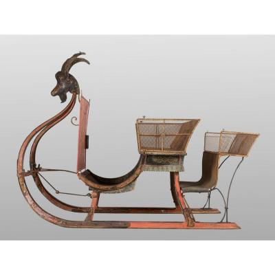 Grand Sleigh On Horseback, France Circa 1870
