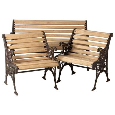 Garden Furniture In Wood And Cast Iron, France Around 1930