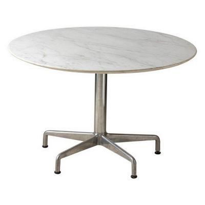 Charles Eames, Segmented Round Table, Aluminum Group Series, Circa 1960
