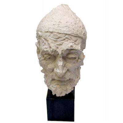 Willem Verbon. Kees Van Dongen, Ninety Years Old, Original Plaster. 1967
