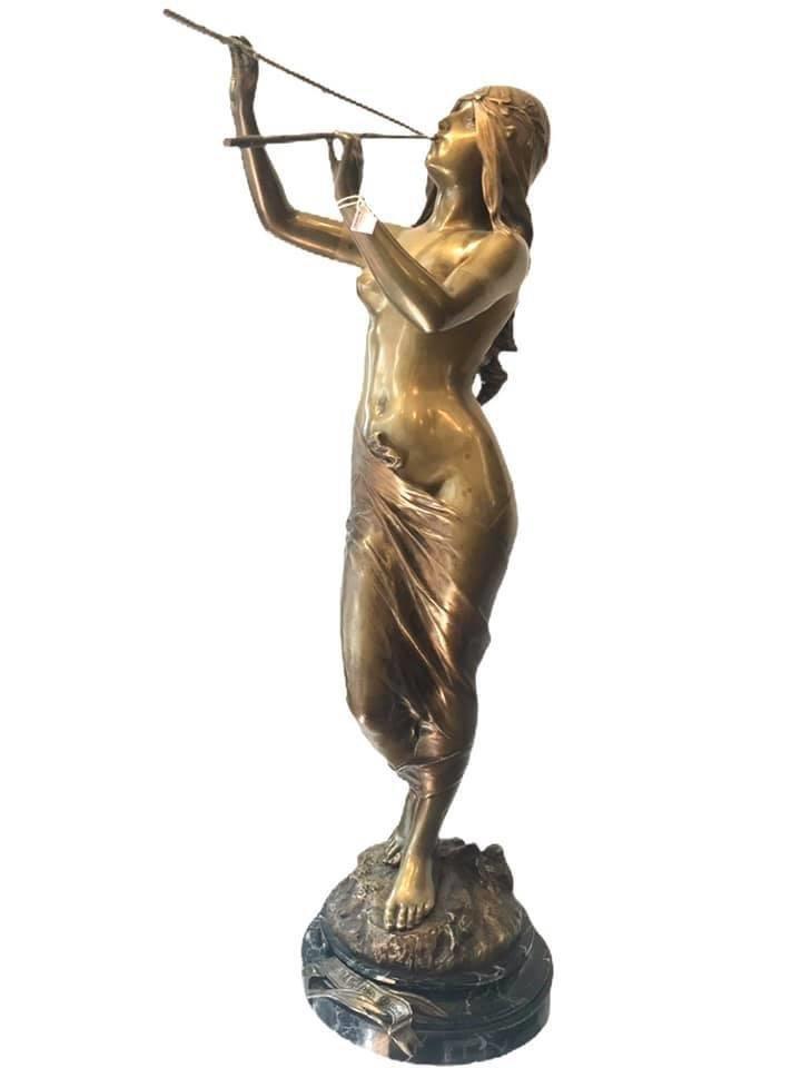 La Muse Des Bois Par Édouard Drouot (1859-1945)