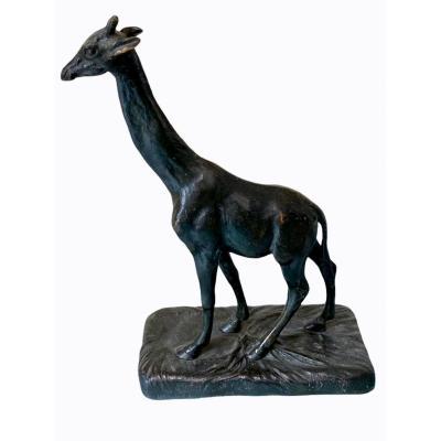 La Girafe Par Alfred Barye (1839-1895)