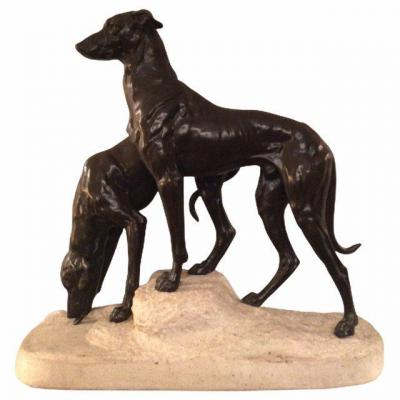 Greyhound Group By Masson (1871-1932)