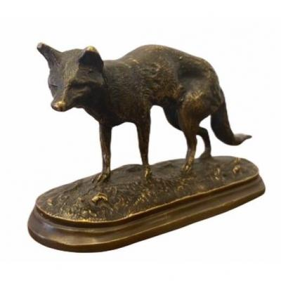 The Fox By Auguste Cain (1821-1894)