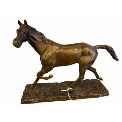 Cheval En Bronze Par Irénée Félix René Rochard (1906-1984)