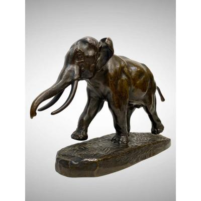 Cochinchina Elephant By Antoine-louis Barye (1795-1875)