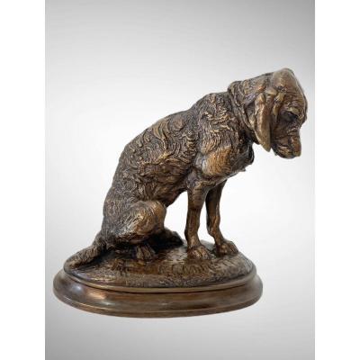 Sitting Dog By Emmanuel Frémiet (1824-1910)