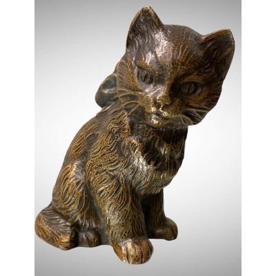 Sitting Cat By Karl Kauba (1865-1922)