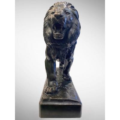 The Walking Lion By Antoine-louis Barye (1795-1875)