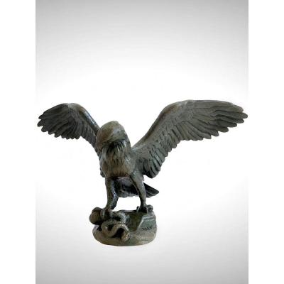 Eagle Carrying A Serpent By Antoine-louis Barye (1795-1875)