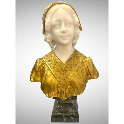 A Bust Of A Young Woman By Affortunato Gory (1895-1925)