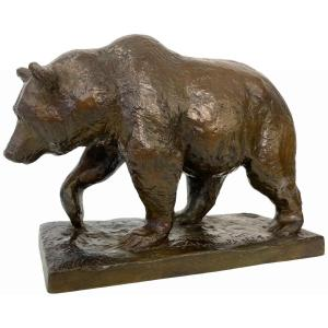 Bronze - Ours Des Pyrénées By Philippe Arnault (born 1957) -founder Landowski