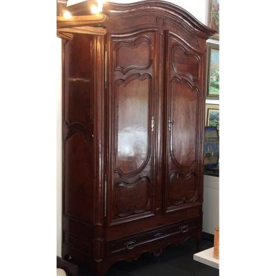 Important Bordeaux Solid Mahogany Cabinet Louis XV Period
