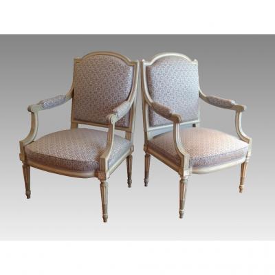 fauteuil ancien sur proantic louis xvi directoire 19 me si cle. Black Bedroom Furniture Sets. Home Design Ideas