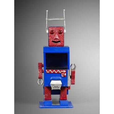 Robot,distributeur De Bonbons,italie Annees 60, Rare