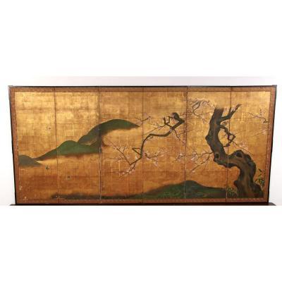 Byobu,paravent Japonais  Ecole De Kano ,edo