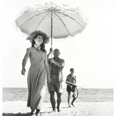 Robert Capa: Picasso And Françoise Gilot