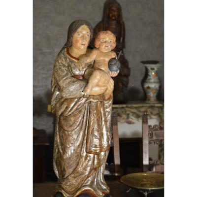 Vierge à l'Enfant Du 18 XVIII ème Siècle