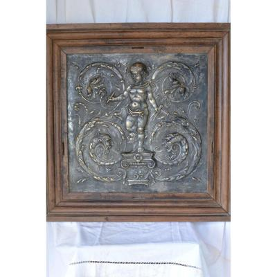 Silver Brass Panel From The 16th Century