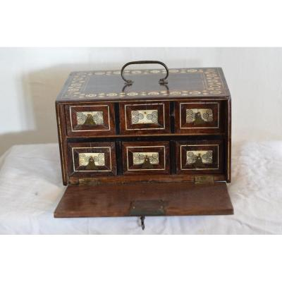 Cabinet De Voyage Indo-portugais -Gujarat (Inde) XVIIè Siecle