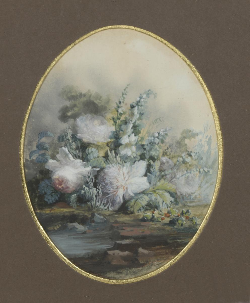 """""""bouquet Of Flowers"""" Victor Barjon (1845-1920)"""