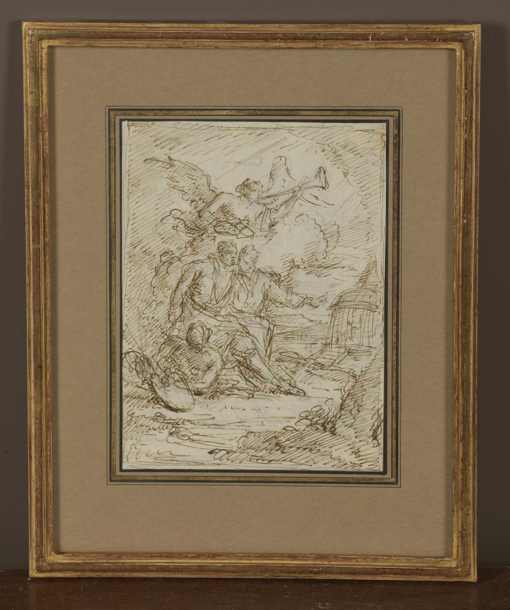 """annibale Caracci Entering The Pantheon"" Giuseppe Piattoli"