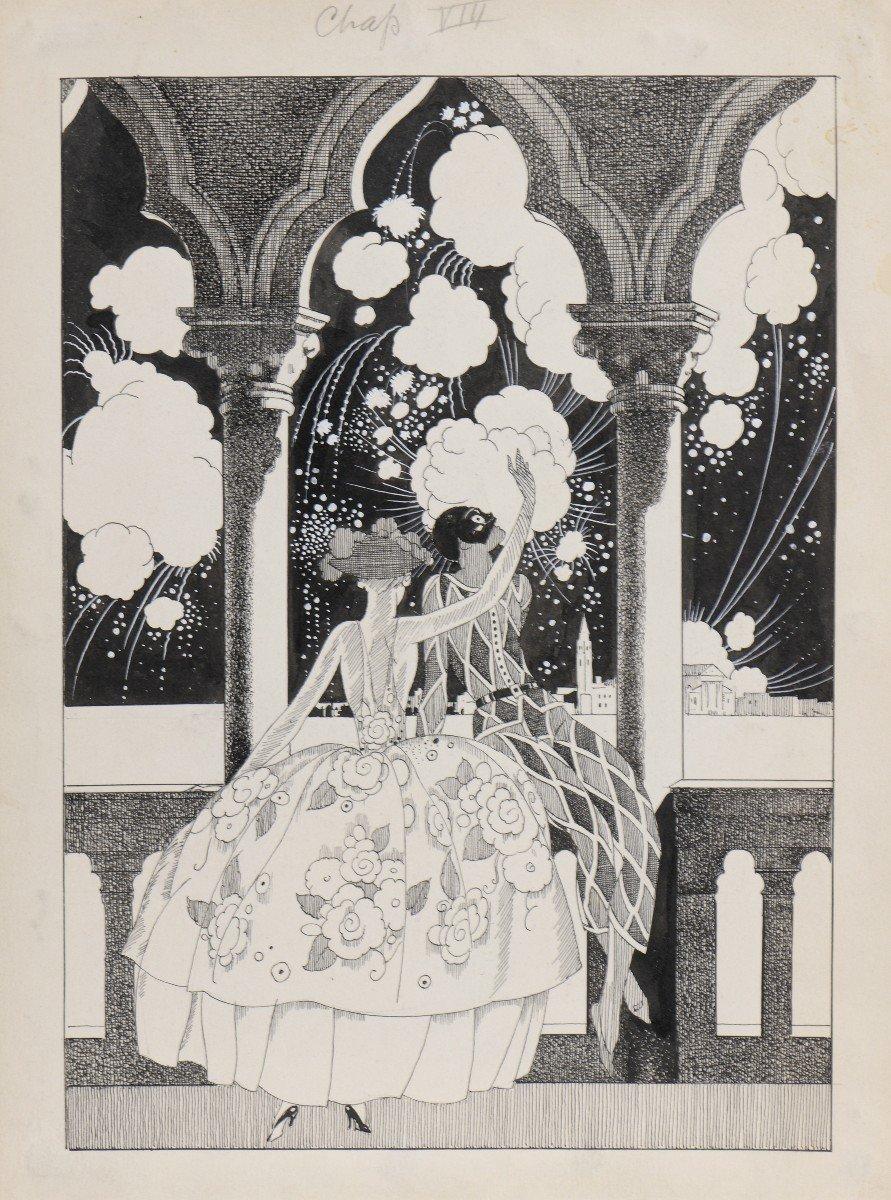 """""""Venise"""" Umberto Brunelleschi (1879-1949) Vers 1925 Projet pour un livre -photo-4"""