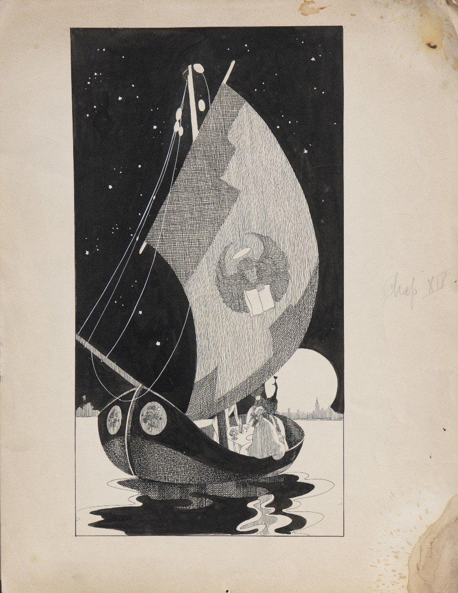 """""""Venise"""" Umberto Brunelleschi (1879-1949) Vers 1925 Projet pour un livre -photo-1"""